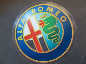 Alfa Romeo Milano Later Logo Window Sticker. Colour. 3""