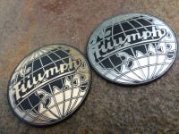 Triumph Globe Style Laser Cut Self Adhesive Car Badge. Silver or Gold. 45mm or 49mm.