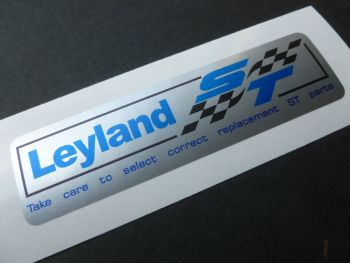 "British Leyland Blue & Black ST Silver Stickers. 4"" Pair."