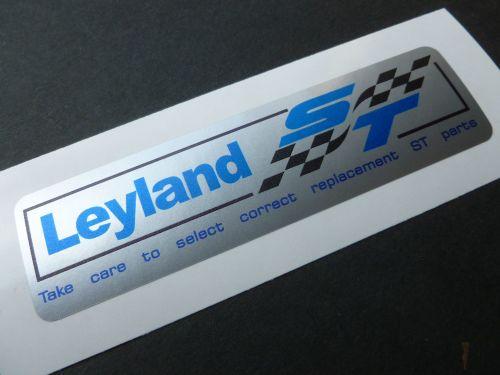British Leyland Blue & Black ST Silver Stickers. 4