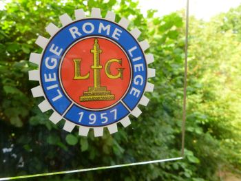 "Liege Rome Liege 1957-58-59-60 Royal Motor Union Sticker. 3.25""."