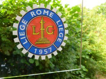 "Liege Rome Liege 1957-58-59-60 Royal Motor Union Sticker. 3.25""."
