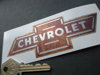 "Chevrolet Dicky Bow Rusty Style Sticker. 5""."