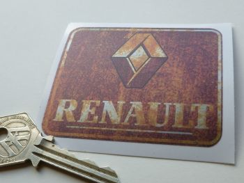 "Renault Rusty Style Sticker. 3""."