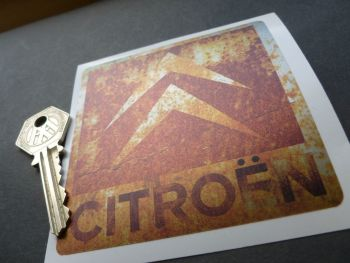 Citroen Rusty Chevron Style Sticker. 90mm.