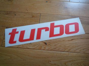 "Turbo Cut Vinyl Text Sticker. 13""."