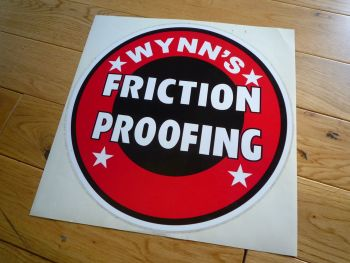 "Wynn's Friction Proofing Sticker. 12"". Slight Second 200."