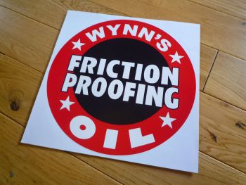 "Wynn's Friction Proofing Sticker. 10"". Slight Second 135."