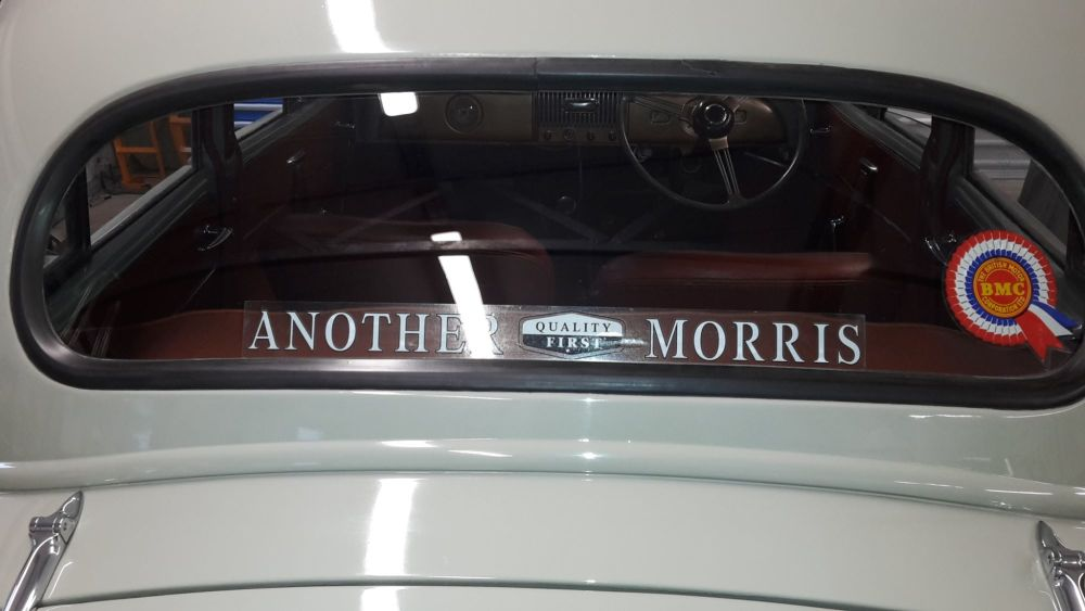 """Another Quality First Morris Window Sticker. 17.75""""."""