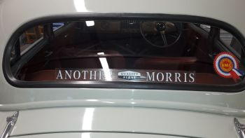 "Another Quality First Morris Window Sticker. 17.75""."