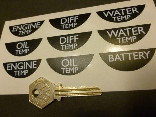Motor Racing Gauge Stickers set of 9.