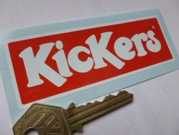 "Kickers Red & White Alain Prost etc. Sticker. 4""."