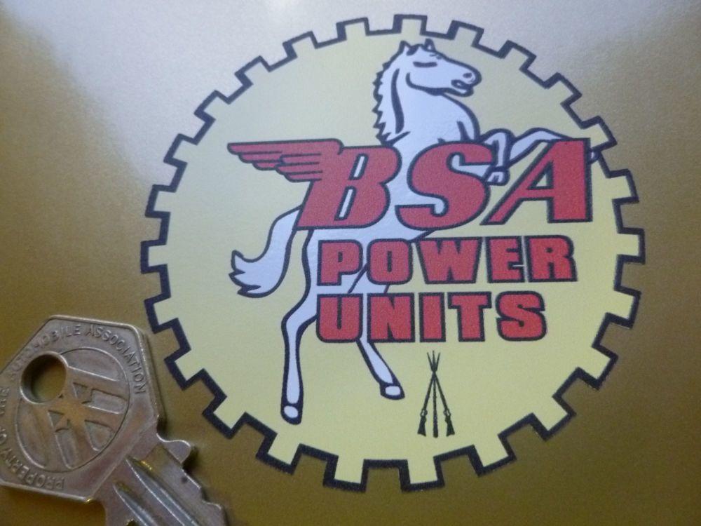 BSA POWER UNIT DECALS SET