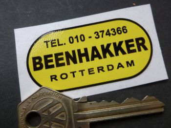 "Beenhakker Rotterdam Scooter, Motorcycles, Cycles & Mopeds Dealers Sticker. 2""."