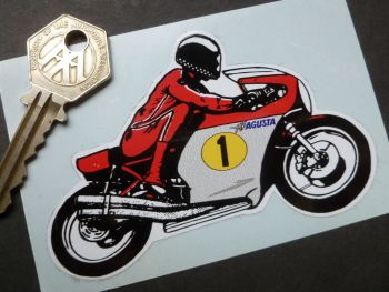 "MV Agusta GP Racer Phil Read 1970's Sticker. 4""."