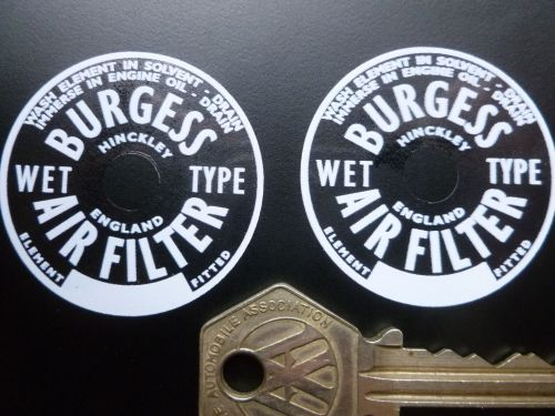 BURGESS AIR FILTER stickers 40mm pair.