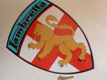 "Lambretta Coloured Shield Sticker. 16""."