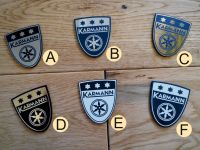 Karmann Shield Style Self Adhesive Car Badge. 1.75