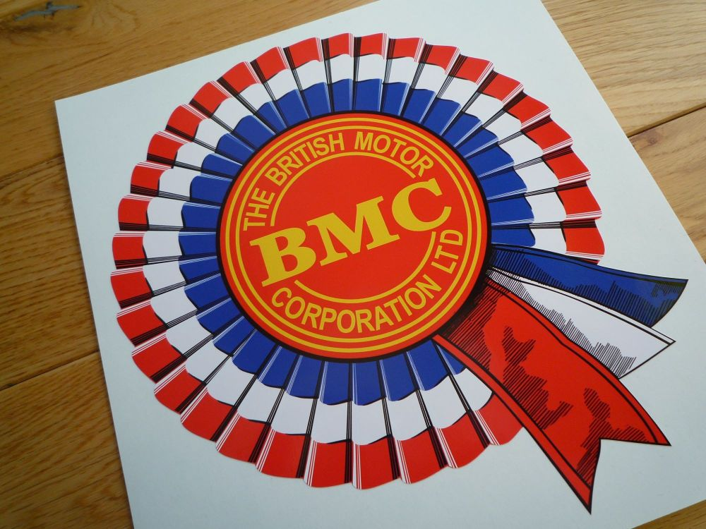 "BMC Shaded Style Rosette Sticker. 8"", 10"", or 12""."