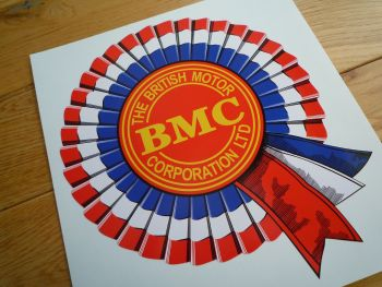 "BMC Shaded Style Rosette Sticker. 8"", 10"", 12"", or 14""."