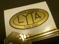 LYTA Aluminium Cafe Racer Petrol/Gas Tank Oval Sticker. Various Colours. 50mm.