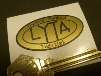 LYTA Aluminium Cafe Racer Petrol/Gas Tank Oval Sticker. Various Colours. 50mm.
