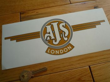 "AJS London Style Window Sticker. 11""."