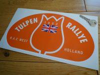 Tulip Rally Tulpenrallye 1962 Orange Union Jack Rally Plate Sticker. 12