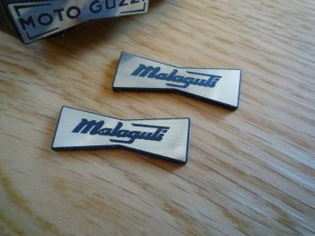 Malaguti Champion Spark Plug HT Cap Cover Badges. 29mm Pair.