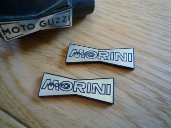 Moto Morini Champion Spark Plug HT Cap Cover Badges. 29mm Pair.
