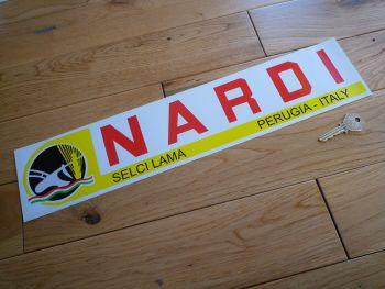 "Nardi Selci Lama, Perugia - Italy Oblong Sticker. 17.75""."