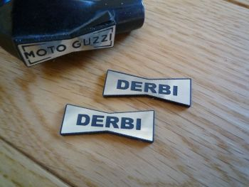 Derbi Champion Spark Plug HT Cap Cover Badges. 29mm Pair.
