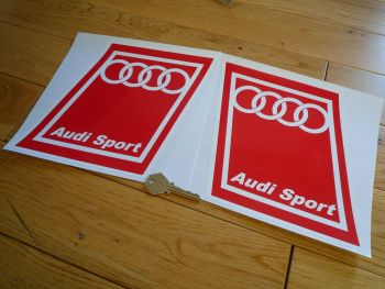 "Audi Sport Handed Parallelogram Stickers. 8"" Pair."