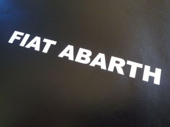 "Fiat Abarth Cut Text Stickers. Various Colours. 4"", 6"", or 12"" Pair."