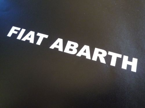 Fiat Abarth Cut Text Stickers Various Colours 4 6 Or 12 Pair