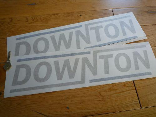 Downton Gold & Black Text Cut Vinyl Stickers. 18