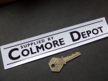 "Colmore Depot Dealers Window Sticker. Black & White or Gold and White 8.5""."