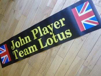 "John Player Team Lotus Art Banner. 54""."