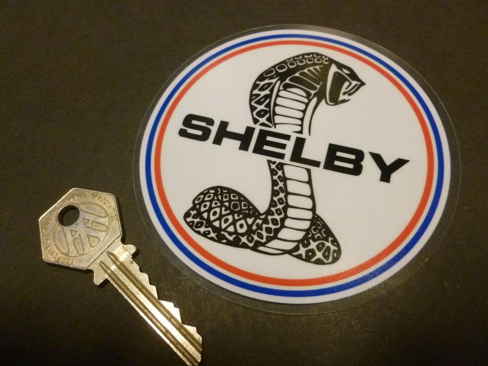 Shelby Circular Logo WINDOW Sticker. 4