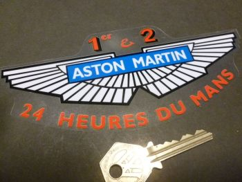 "Aston Martin 1st & 2nd 24 Heures du Mans Car Window Sticker. 6.5""."
