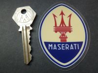 Maserati Logo Window Sticker. 3