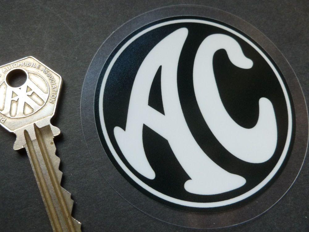 """AC Cars Logo Window Sticker. 3""""."""