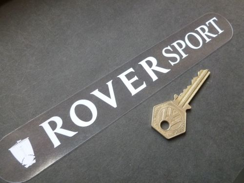 Rover Sport White on Clear Window or Car Body Sticker. 8