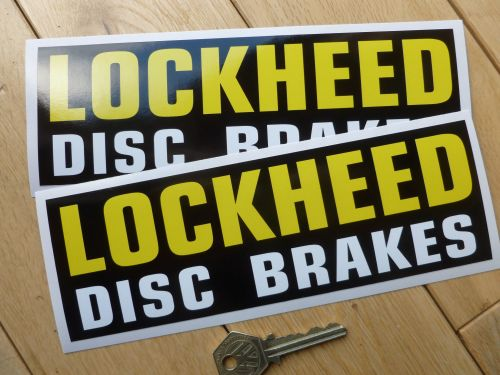 Lockheed Disc Brakes Oblong Stickers 8