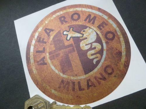 Alfa Romeo Milano Rusty Style Stickers. 4