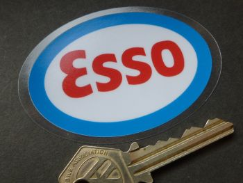 Esso Oval Window Sticker. 75mm.