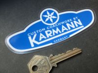 Karmann Window Sticker. 125mm.