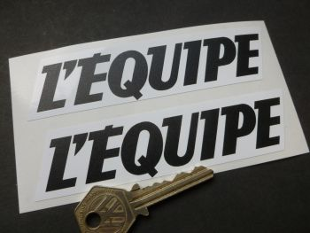 "L'Equipe Sports Paper Sponsors Stickers. Various Colours. 5"" Pair."