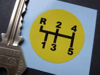 Getrag etc Dog Leg Pattern Gearknob Sticker. 36mm.
