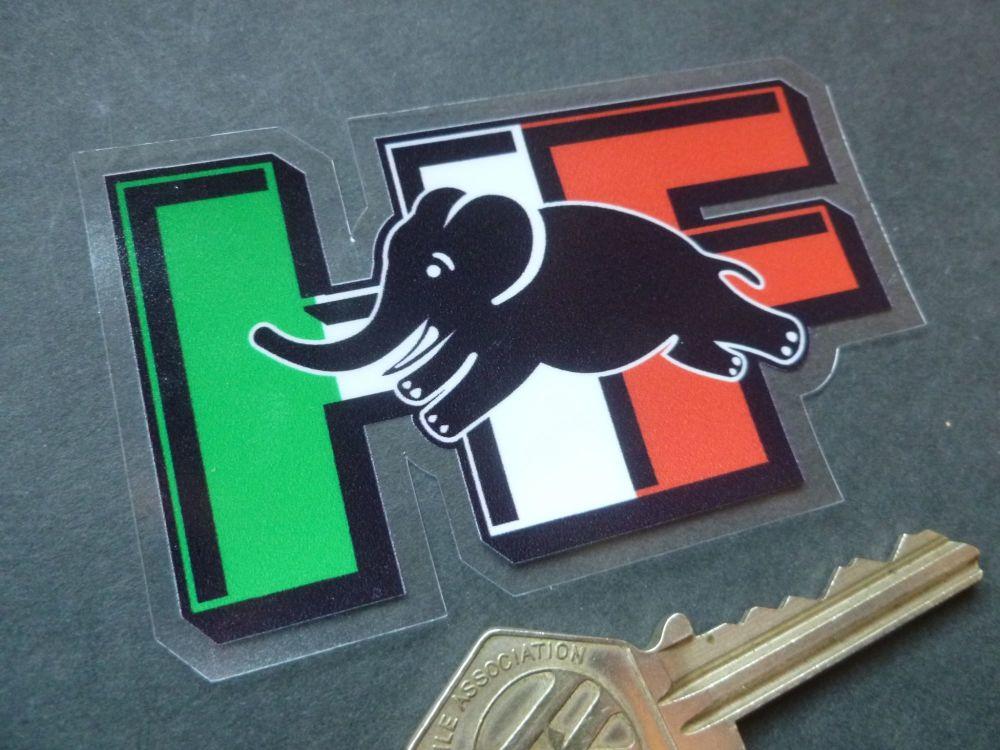 """Lancia Delta Integrale HF 3D Tricolore Style Window Sticker. 3.5""""."""